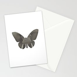 Elephant Butterfly Stationery Cards