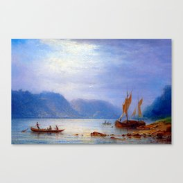 Carl Morgenstern Midday Sun at St. Goarshausen Canvas Print