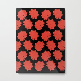 Red Flower Pattern #1 #Grenadine #floral #decor #art #society6 Metal Print