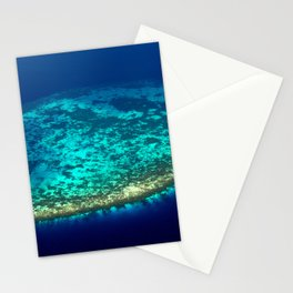 Aerial view to Maldivian coral reef Stationery Cards
