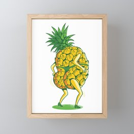 Dancing pineapple with thong Framed Mini Art Print