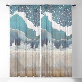 Late Winter Sheer Curtain