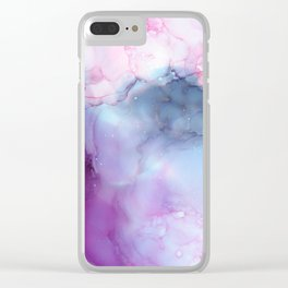 Dreamy storm clouds Clear iPhone Case