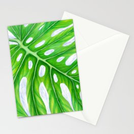 Monstera Close-Up Stationery Cards