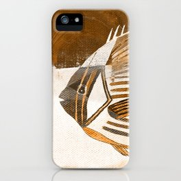 Fish in Coffee Grounds iPhone Case