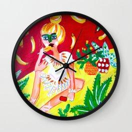 Banana pops Wall Clock