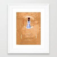 belle Framed Art Prints featuring Belle by Camilla Kipp