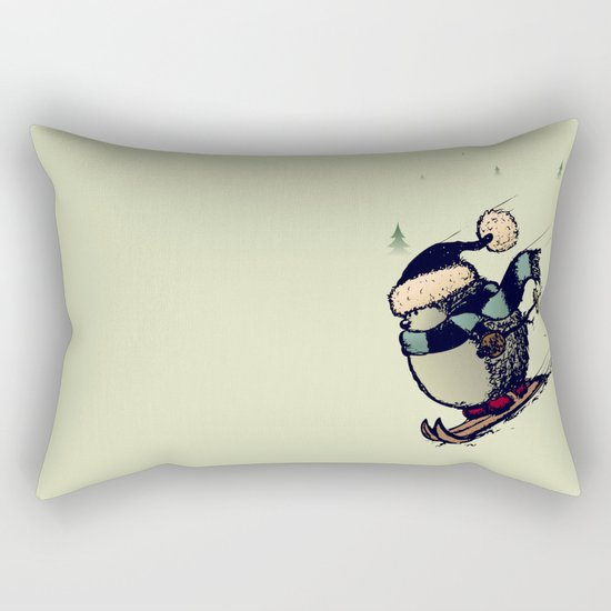 Skier Rectangular Pillow