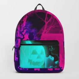Glowing Pumpkin and Haunted Halloween Barn Backpack