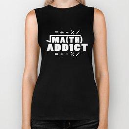 Math Addict Funny Men Teacher Sums Pi Geek Algebra Math T-Shirts Biker Tank
