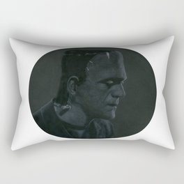 Frankenstein's monster on vinyl record print Rectangular Pillow