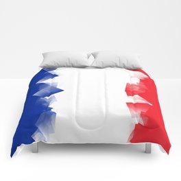 France Flag Cubic Comforters