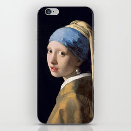 Girl with a Pearl Earring, classic painting iPhone Skin