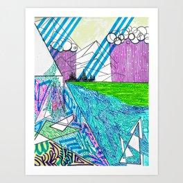 landscape of wonder Art Print
