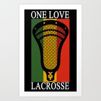 lacrosse Art Prints featuring Lacrosse OneLove by YouGotThat.com