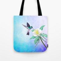 hummingbird Tote Bags featuring hummingbird. by haroulita