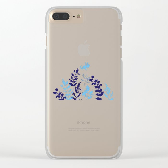 Floral Pattern VI Clear iPhone Case