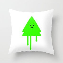 Happy Xmas Tree Throw Pillow