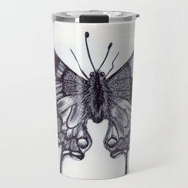 Ballpen Butterfly Travel Mug