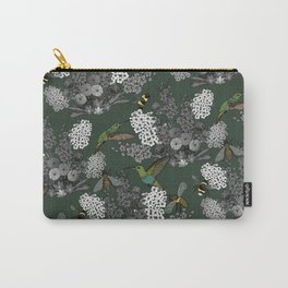 Hummingbirds and Bees (don't let them fade away) Carry-All Pouch