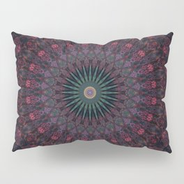 Mandala in dark red and brown tones Pillow Sham