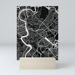 Street MAP Rome // Black&White Mini Art Print