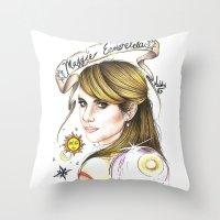 ahs Throw Pillows featuring Maggie Esmerelda-AHS by MELCHOMM