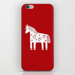 Dala horse on red iPhone Skin