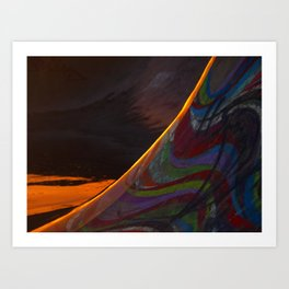 Skate ramp after a storm Art Print