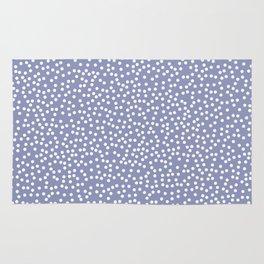 Dusty Purple and White Polka Dot Pattern Rug