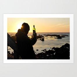 Wine at the Beach Art Print