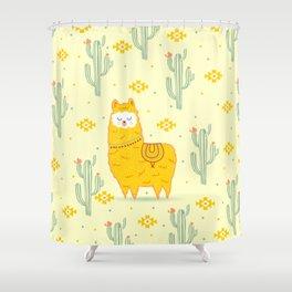 Alpaca summer Shower Curtain