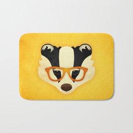 Hipster Badger: Gold Bath Mat