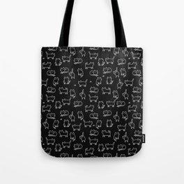 Black cats on black Tote Bag
