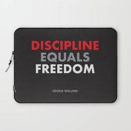 """Discipline Equals Freedom"" Jocko Willink Laptop Sleeve"
