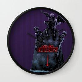 Here Lies Betelgeuse Wall Clock