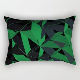 3D Futuristic Geometric Background (Green) Rectangular Pillow