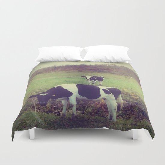 Rustic Cows Duvet Cover