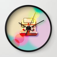 polaroid Wall Clocks featuring Polaroid by Tony Vazquez