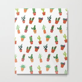 Happy Succulents Metal Print