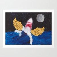 FlyingShark Art Print