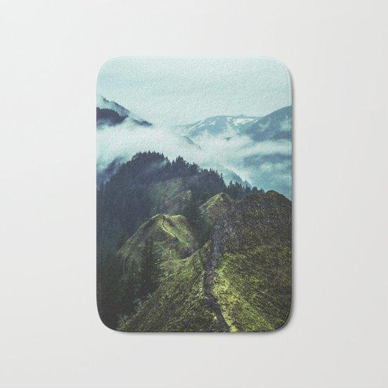 Forest Mountains Blue Sky Bath Mat