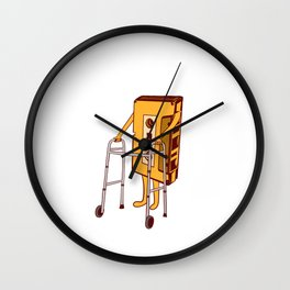 """Retro 80's Design Old-fashion 80's Design Saying """"Too Old"""" T-shirt Design Vintage Old Fashion Wall Clock"""