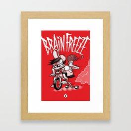 BRAINFREEZE Framed Art Print