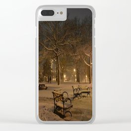 Abandoned Park Clear iPhone Case