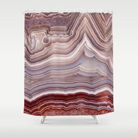 agate Shower Curtains featuring Agate Crystal by Santo Sagese