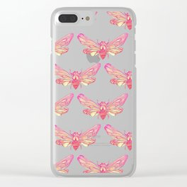 Summer Cicada – Pink Palette Clear iPhone Case