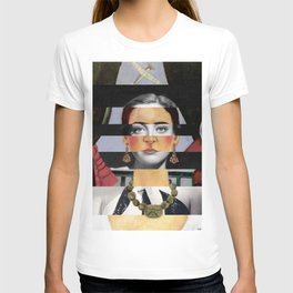 Frida Kahlo's Self Portrait Time Flies & Joan Crawford T-shirt