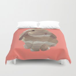Peanut Bunny the Rabbit Polygon Art Duvet Cover