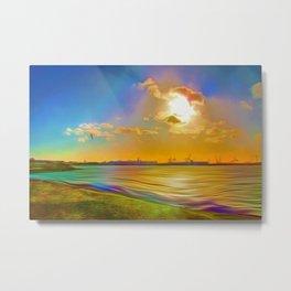 Sunrise at the Marina Metal Print